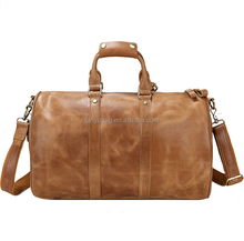 New item high quality vintage style men leather travel bag for sale