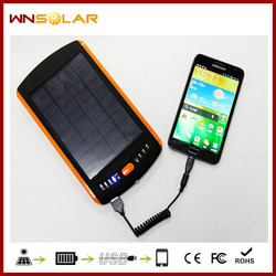 Mobile Portable Solar Power Bank Charging External Battery 23000 mAh for iPhone
