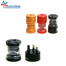 Portable promotion gift 3 plugs universal travel adapter