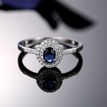Promotional Sterling Silver Light Blue Stone Rings Jewelry Ruby For Women
