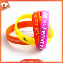 2015 the most unique design custom silicone wristband of christmas gift