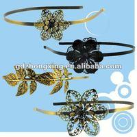 Iron romantic metal flower hair combs Ladies,blank hair accessory