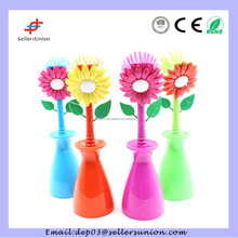 Kitchen pot flower cleaning brush set with holder