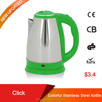 Stainless steel electric tea kettle 1.5L with a cool design pp handle