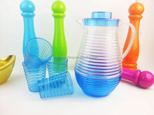 Favorites Compare 2014 hot sale fashional plastic water cup and pitcher