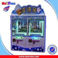 2014 coin operated ice cream claw crane machine for sale/vending machine