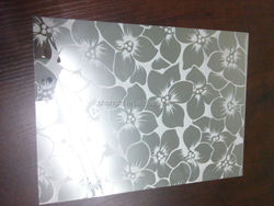 High quality stainless steel etched plate