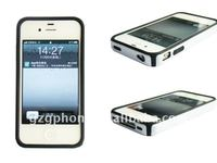 newest protector mobile phone case pc+silicon for i phone4