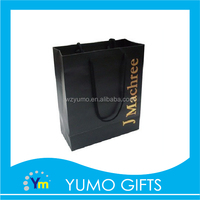 fashionable black matt finished hand bag, luxury laminationed gift bags, wholesale high end shopping bag