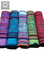 Hmong Batik Fabric various colours