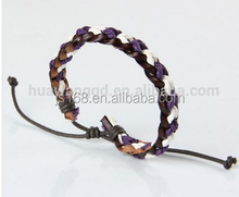 Braided wrist band bracelets wristbands bracelet leather exclusive jewelry for young men