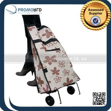 Reusabale foldable vegetable shopping trolley bag