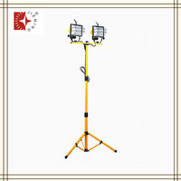 Telescope movable double headds halogen light