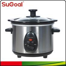 Crock pot 1.5L stylish round design slow cooker with ETL certificate