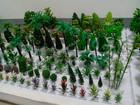 Vários mini-artificial fio do ferro ou pastico modelo de árvore para maquete arquitetônica layout/layout de trem