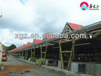 tube truss steel structure for mauritius market