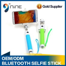 China manufacturer supply foldable wireless selfie sticks blue tooth