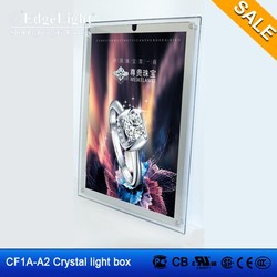 Edgelight CF1A the cheapest robot super slim led crystal light box hot sale
