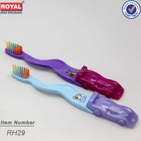 Magnetic toothbrush handles with car design for kids toothbrush