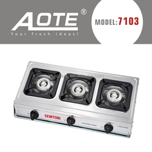 portable three burner gas cooking factory price