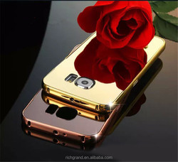 Luxury Metal Frame Bumper Mirror Back Case Cover For Samsung Galaxy Phone