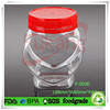 200ml Small Plastic Containers with Lids for Food, Food Grade PET Sweet Jar Heart Shape