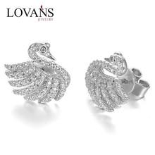 925 Silver Fashion Diamond Men's Stud Earrings Jewelry FE071