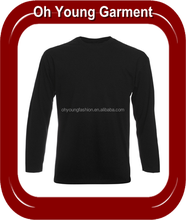 Cheap OEM service long sleeved t shirts wholesale in china, wholesale plain dyed blank long sleeve t shirts for men
