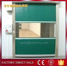 Yqr-01high velocidad puerta persiana, pvc puerta con sencilla puerta