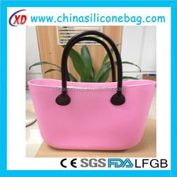 2015 fashion rubber handbags, new o hand bag women, rubber silicone handbags