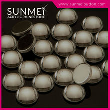 Sun Mei 2015 New Design Acrylic Round Beads For Rhinestone Buttons