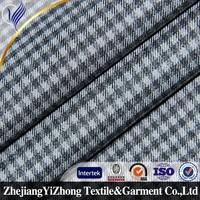 Yizhong TR textile fabric design black white checks fabric