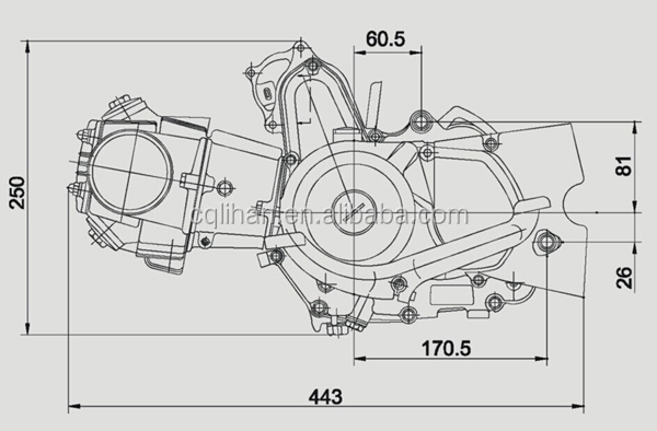 electric start automatic clutch atv loncin 110cc engine