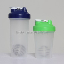 Gifts/Promotion trade assurance covered water container fashional new design Protein shaker, plastic bottle, blue water bottle