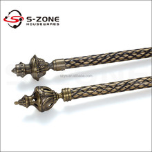 Home Hardware portable wrought iron curtain rod poles