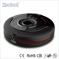Self-charging vacuum robot for floor cleaning, with camera