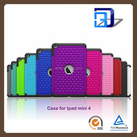 2016 Fashion 2 In 1 For iPad Mini4,Diamond Bling Hard Cover Tablet Case For Apple iPad Mini4 Armor Tab Case
