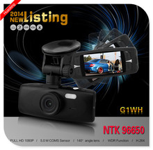 5.0MP COMS 140 degree A+ 1080P car DVR car camera G1WH hidden camera