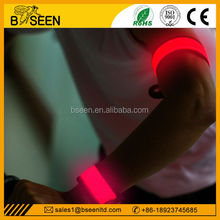 promotional slap bracelets glow in the dark fabric bracelet