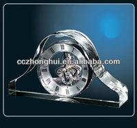 Fashionable Crystal Clock, crystal table clock, crystal desk clock
