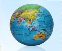 Quality 106mm plastic rotating globe world map