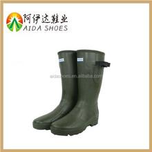 2015 High Quality Waterproof Dark Green Rubber Rain Boots