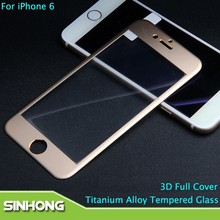 For iPhone 6 Full Screen Tempered Glass,Titanium Tempered Glass Full Screen Protector For iPhone 6