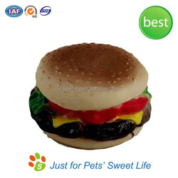 Wholesale Factory Manufacturer Rubber Hamburger Dog Toys