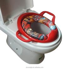 yiwu wholesale fashion color handle toilet seat cover soft foam toilet seat