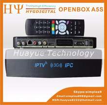 Good sales satellite dish hd tv receiver Openbox A5S 1080P FULL HD DVB S2 receiver support WIFI+IPTV+IKS
