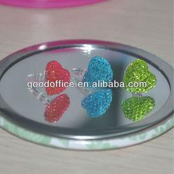 Heart shape crystal diamond decoration anti dust plugs for phones