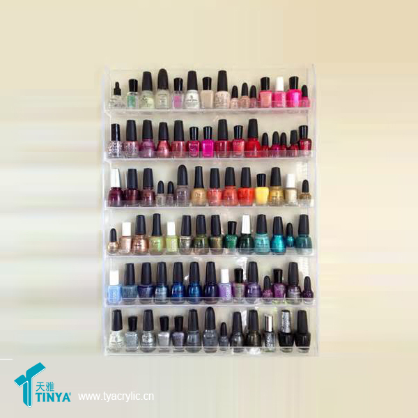 90 Bottles Wall Mounted Plastic Clear Acrylic Nail Polish Rack - Buy ...