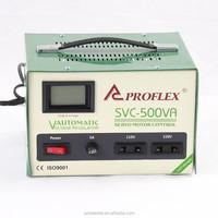 High Accuracy Portable SVC-500VA A.C. Display Full Automatic Control Servo Motor Voltage