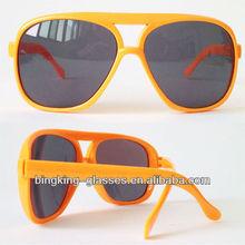 Plastic neon orange sunglasses